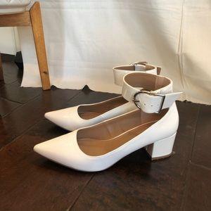 ASOS White Patent Leather Heels